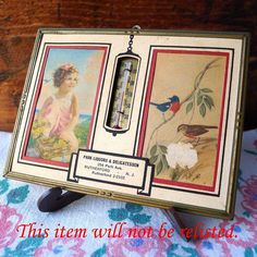 SALE Vintage Advertising Thermometer Art Vintage by MrFilthyRotten, $7.00