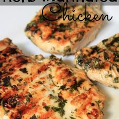 Fast and easy Herb-Marinated Chicken. Light and delicious and SO flavorful. Fast and easy Herb-Marinated Chicken. Light and delicious and SO flavorful. Thyme Recipes, Herb Recipes, Grilling Recipes, Dinner Recipes, Cooking Recipes, Grilling Ideas, Healthy Recipes, What's Cooking, Healthy Habits