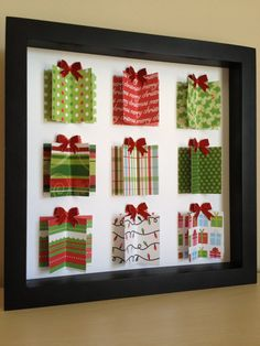 Christmas Present 3D Paper Art can be personalized by PaperLine, $35.00