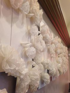 Coffee filter wall flowers