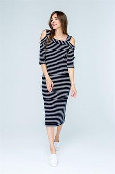 Платье 593 hrn Dark Blue, Cold Shoulder Dress, Dresses, Fashion, Vestidos, Moda, Deep Blue, Fashion Styles, Dress