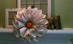 The Farmhouse Porch:  rolled book page wreath!!!!