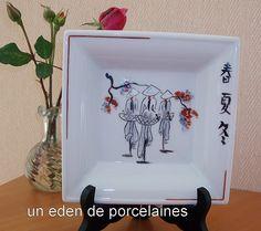J'ai peint ce motif d'après une carte postale reçue du Vietnam.