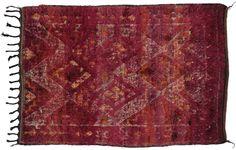 Vintage Moroccan Oriental Rug 6 x 8
