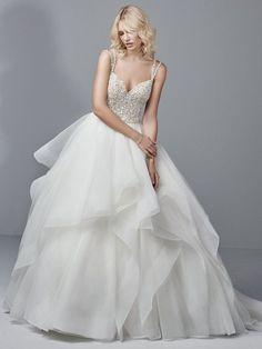 Featured Dress: Sottero and Midgley; Wedding dress idea.