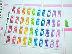 Water Bottle Hydration Planner Stickers - Erin Condren, Happy Planner, Plum Paper, Filofax, Kikki K, Scrapbook, Calendar