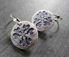 Image of Victorian Cowgirl - Porcelain Earrings