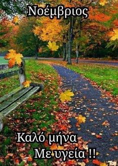 Hello November, Mina, Greek Quotes, Good Morning, Beautiful Pictures, Sidewalk, Country Roads, Tattoo, Cute
