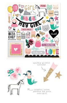 Crate Paper Cute Girl - love the Unicorns :)