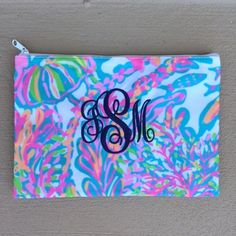Lilly Pulitzer Monogrammed Pencil Case Scuba to Cuba  tinytulip.com - Personalized Gifts at Great Prices - Personalized