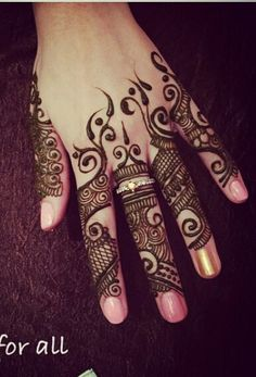 413 Best Finger Henna Images Henna Tattoos Hennas Henna Art