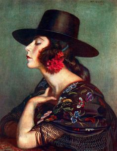 "George Apperley, (American, 1864-1960), ""La Cordobesa,"" 1921. https://www.facebook.com/pages/The-Roaring-20s-30s/217708824933132"