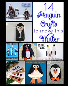 14 Penguin Crafts to Make this Winter  -  Some of these are just TOO CUTE!