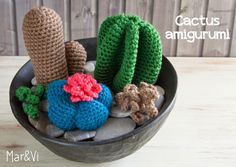 Patrones amigurumi: cactus paso a paso | Aprender manualidades es facilisimo.com
