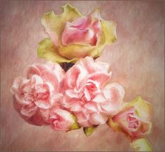 Painting by Tana Penfold of roses.