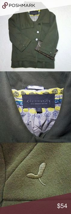 Community Womens Organic Cotton Aritzia Jacket xs Community Womens Organic Cotton Moto Jacket Size Small Olive Green. Photos of this coat by me  . Size xs  . Brand Community   . Condition Good   . Fit smooth  . Style moto cotton jacket   . Color Olive Green   . tag posted:)  . Bundle & SAVE 25% off 🍍  No additional shipping charge when you purchase more from my closet   Every purchase will be packed with Care & a Special FREE GIFT 🎁   🍍 25% OFF on bundles   Inventory # 385 community with…
