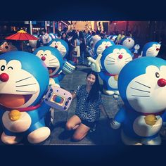 Thank you @huijia15. These #doraemon are so cute, especially when there's 100 of them. - @jjswxin- #webstagram