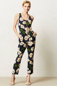 I have a romper and jumpsuit obsession. I don't love this print, but I do love the style and accessories.