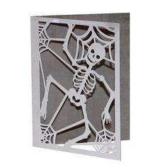 SVG cuts | Halloween Digital Cutting File | Skeleton card SVG cut file