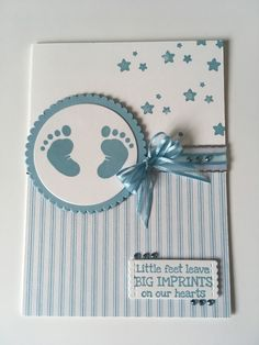 Stampinup Baby blue – Petalpumpkin Buying Gently Used Baby Clothing Article Body: Remember that ador Baby Boy Cards Handmade, Baby Girl Cards, New Baby Cards, Kids Cards, Scrapbook Cards, Homemade Cards, Stampin Up Cards, Cardmaking, Birthday Cards