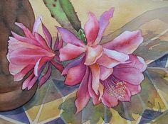 """Kerstin Birk, """"Kaktusblüte"""" Mit einem Klick auf 'Als Kunstkarte versenden' versenden Sie kostenlos dieses Werk Ihren Freunden und Bekannten."""