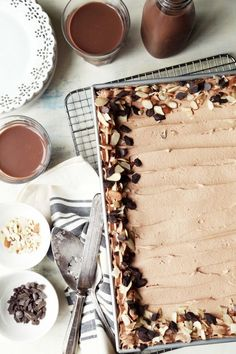 Chocolate Almond Tres Leches Cake
