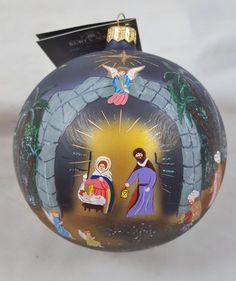 STAR OF BETHLEHEM Nativity Jesus Glass Ornament Made in Poland David Strand New