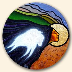 White Buffalo Calf Woman~ artist Aaron Paquette