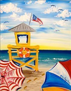 Siesta Key Lifeguard Stand - Sarasota, FL Painting Class - Painting with a Twist