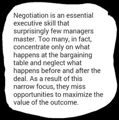 NEGOTIATING BEYOND YES, source: HBR