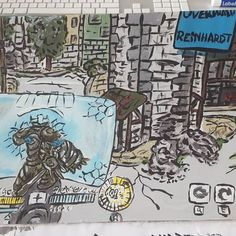 #overwatch #reinhardt #Tank #eichenwalde #painting #color #acryl #traditional Overwatch, Images, Comic Books, Traditional, Photo And Video, Comics, Drawings, Videos, Pictures