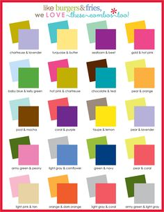 Color Combos that inspire projects and improve crafts!
