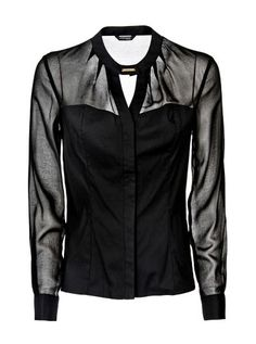 Marciano Blouse with see-through inserts