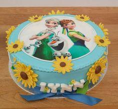 Frozen Fever cake Elsa Birthday Party, Frozen Birthday Theme, Birthday Cake, 5th Birthday, Frozen Fever Cake, Frozen Cake, Anna Frozen, Pastel Frozen, Cupcakes