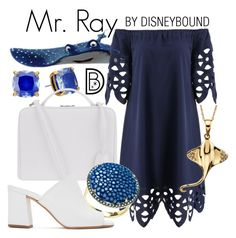 """""""Mr. Ray"""" by leslieakay ❤ liked on Polyvore featuring Kate Spade, Mark Cross, Latelita, Maryam Nassir Zadeh, disney, disneybound and disneycharacter"""