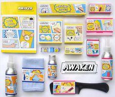 AWAKEN: Office kits for first jobbers on Behance Typography Inspiration, Packaging Design Inspiration, Graphic Design Inspiration, Office Kit, Paper Bag Crafts, Publication Design, Text Design, Graphic Design Posters, Brand Packaging