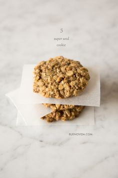 5 Super Seeds Cookie - I have everything for these....might be a Nora-Mommy activity this weekend!