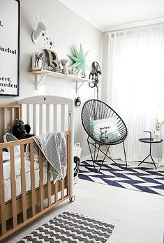 Black, White, Grey And Mint   Lovely Hues For A Baby Boy Nursery