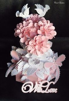 SVG FIle Template Rose Stems & Box