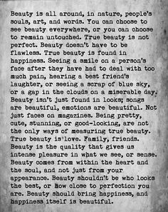 Love this Quote! Beauty is all around! Quote by Chloe Harris #Beauty #Quotes #Sayings