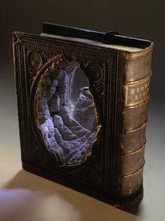 Ancient Books Transformed into Serene Natural Landscapes by Guy Laramée.