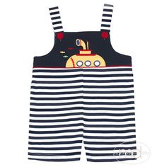 a70bff5b8564 Zuccini Submarine Applique Boys Overall from Madison-Drake Children's  Boutique