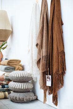 Pampa throws, handwoven with pure llama wool. Photo Bobby and Tide