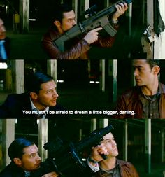 a man with big dreams and a big gun... i wonder what else is big.... :)