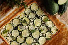 Tarte aux courgettes, ricotta et menthe / Zucchini pie with ricotta and mint - Emilie and Lea's Secrets
