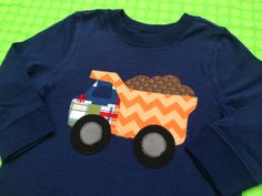 sweet sprouts boys construction party dump truck shirt