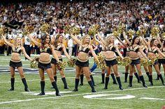 Over bent cheerleaders new saints orleans