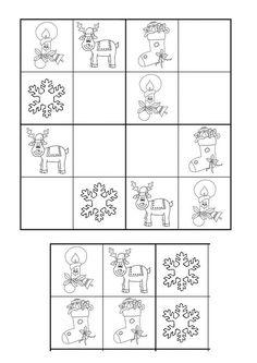 Christmas Math, Christmas Activities For Kids, Winter Crafts For Kids, Christmas Crafts, Christmas Puzzle, Kindergarten Math Worksheets, Preschool Activities, Anterior Y Posterior, New Year Art