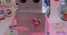 Cómo hacer una caja de robot para Día de San Valentín