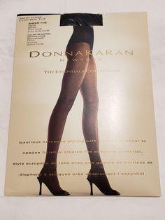 e0c7540e857 Donna Karan Satin Sheer Control Top Pantyhose Onyx Medium  fashion   clothing  shoes  accessories  womensclothing  hosierysocks (ebay link)